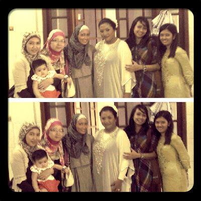 left to right: iyi with baby azka,danti,me,mita,dita,ira